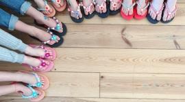 BK kinderfeestje slippers pimpen