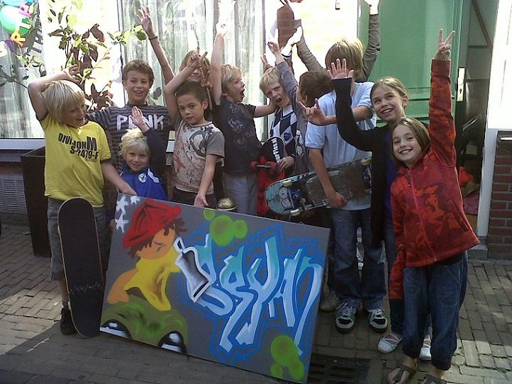 graffiti feestje limburg