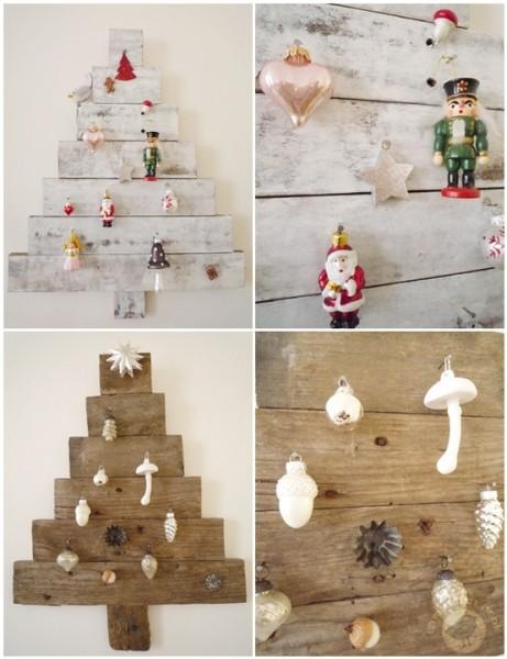 kerstboom van houten planken