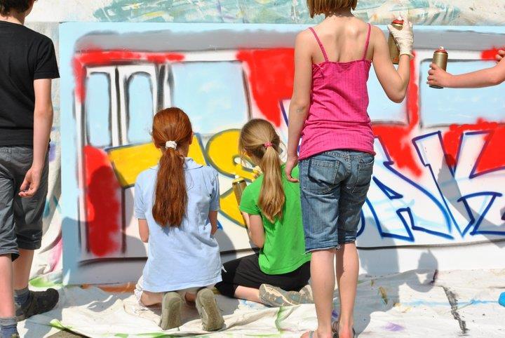 Zeer Dit is echt cool! Een graffiti feestje! #XO78